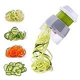 SUREWIN Spiralschneider Gemüse Hand für Gemüsespaghetti 4 in 1 Gemüse Spiralschneider Zoodle Maker für Karotte, Gurke, Kartoffel, Kürbis, Zucchini, Zwiebel