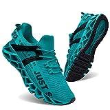 JSLEAP Herren Laufschuhe Walking Athletic für Frauen Casual Slip Fashion Sports Outdoor-Schuhe(3-Blau,Größe 42 EU/260 CN)
