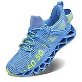 Vivay Damen Laufschuhe Walking Athletic für Frauen Casual Slip Fashion Sports Outdoor-Schuhe, 42 EU, Blau