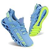 Vivay Laufschuhe für Frauen Leichte Tennis-Sport-Luftkissen-beiläufige athletische gehende Schuhe, 39 EU, Blau