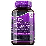 Keto Komplex Max - Geeignet zur Keto-Diät - 120 Kapseln - Mit MCT-Öl, Grünen Tee, wichtigen Vitaminen & Mineralien zur Unterstützung ihrer Keto-Diät