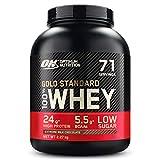 Optimum Nutrition ON Gold Standard Whey Protein Pulver, Eiweißpulver Muskelaufbau mit Glutamin und Aminosäuren, natürlich enthaltene BCAA, Extreme Milk Chocolate, 71 Portionen, 2,27kg