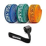 ActiveVikings Pull-Up Stoff Fitnessbänder - Perfekt für Muskelaufbau und Crossfit Freeletics Calisthenics - Fitnessband Klimmzugbänder Widerstandsbänder (G - Middle Set (Orange Grün Blau))