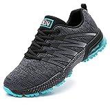 Axcone Damen Herren Sneaker Laufschuhe Air Sportschuhe Kletterschuhe Turnschuhe Running Fitness Sneaker Outdoors Straßenlaufschuhe Sports 8995 GY 42EU