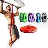 ActiveVikings Pull-Up Fitnessbänder | Perfekt für Muskelaufbau und Crossfit Freeletics Calisthenics | Fitnessband Klimmzugbänder Widerstandsbänder (A - Rot : X-Light (Sehr Leichter Widerstand))