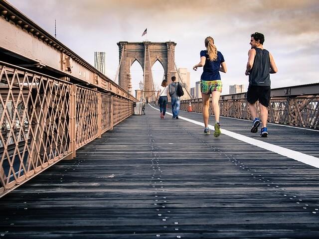 paar am joggen