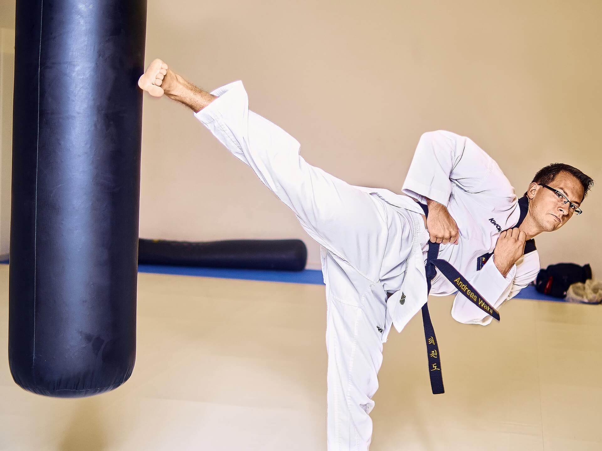 taekwondo sandsack kick