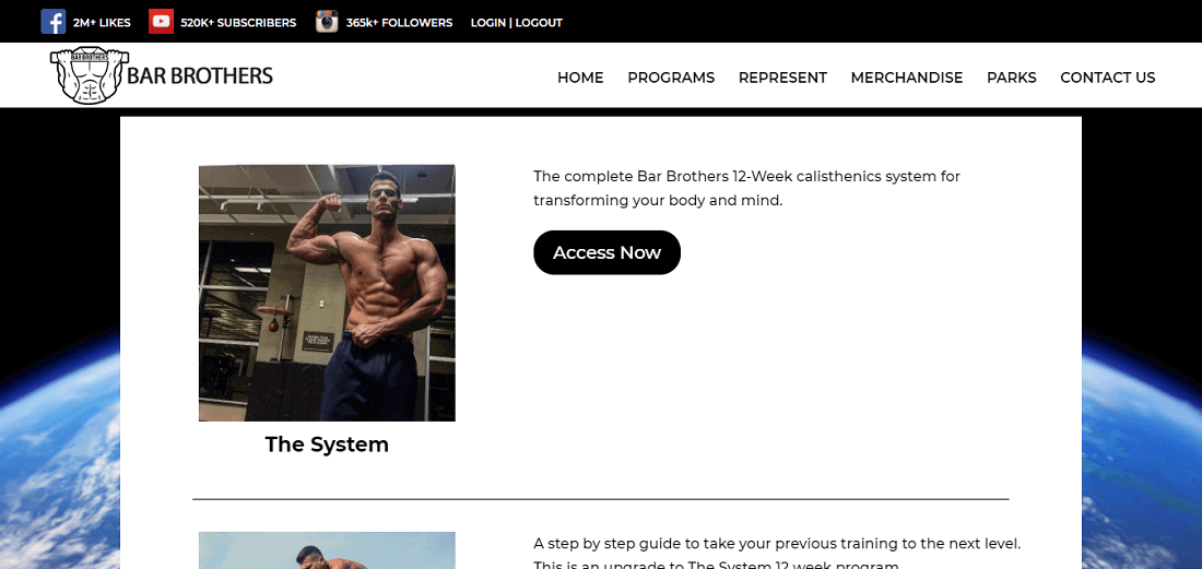 Bar Brothers The System Online Calisthenics Trainingsprogramm