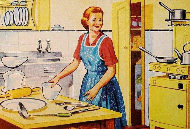 Retro Hausfrau Bananenbrot Rezept